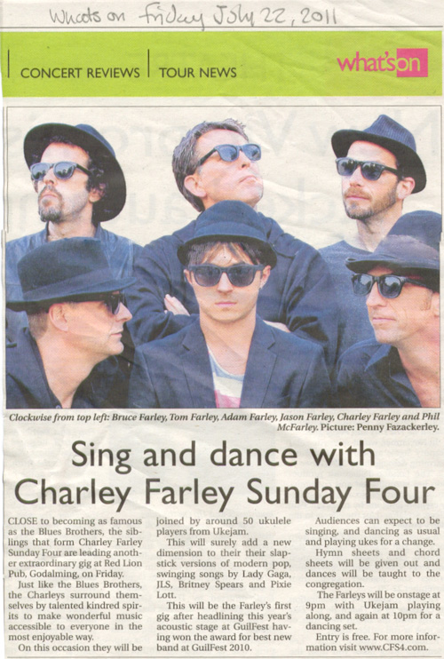 What's On - The Charley Farley Sunday Four, that's what!