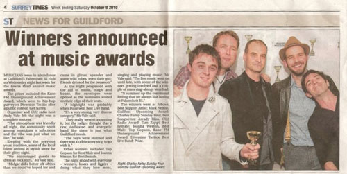 Guilfest Upcoming Award