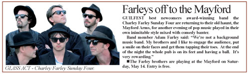 Charley Farley Sunday Four Woking News and Mail