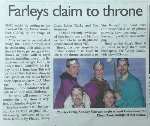 Farley Claim to Throne